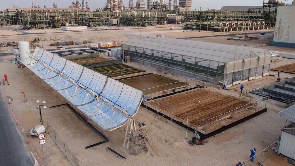 The Sahara Forest Project Pilot Facility in Qatar.