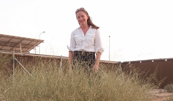 Dr. Virginia L. Corless, Science & Development Manager of The Sahara Forest Project.